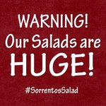 Warning! Our salads are HUGE!
