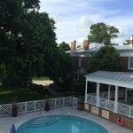 3rd floor overlook of pool