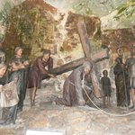One of the powerful stations of the cross in the chapels on the way up