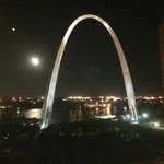 Excellent view of the Arch from the hotel room