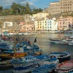 A view of the marina at Ristorante Bagni Delfino. Magnifico!!