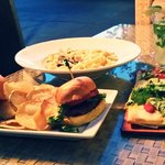 Squash and Mushroom pasta, Sliders, Flatbread