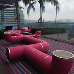 Infity pool and restaurant at roof top