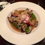 Mussel, pork belly pho. The pork belly was so crispy!!