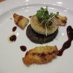 Lingcod 2-ways and scallop.