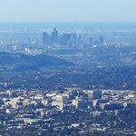 View of downtown LA and Pasadena