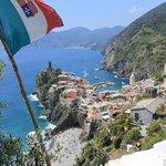 Vernazza from the trail from Corneglia