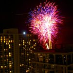 Friday night fireworks from our balcony