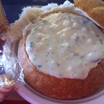 Nothing better than a warm breadbowl full of chowder