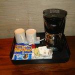 Servicio de café ,té snacks en la habitación