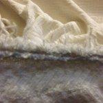 Very frayed blanket