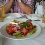 Greek Salad - Look at those tomatoes.