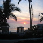 Gorgeous sunset view by our pool