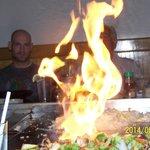 Flaming Dinner!