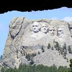 This is my photo of The Famous Face through the tunnel on Iron Mt Road