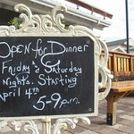 Now serving dinner on Friday and Saturday nights