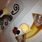 Grand Marnier Pecan Tart, Chocolate Cheesecake with sea salt