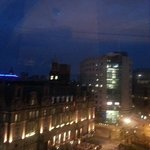 Leeds by night - my view from the Queens Hotel