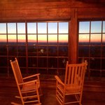 Sunset from the lodge