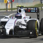 Valteri Bottas in full flight in his Williams Martini car