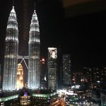 Night View of Twin Towers