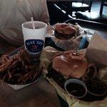 Burgers, fry/ring combo