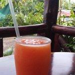 Margarita's Marisqueria - fresh papaya juice