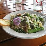 Fettucine with asparagus at Red Newt