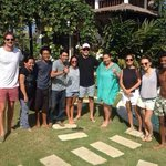 Nona's Bali staff with happy guest