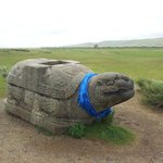 The Stone Turtle; one of the few surviving relics of the original city
