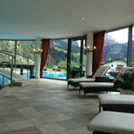 More of the pool area with a better view of the mountains in the back)