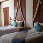 Twin bed in deluxe room