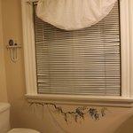 Bathroom window with Trompe-l'œil