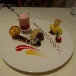 dinner at Joseph's - dessert on the tasting menu