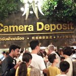 Queue to deposit cameras and all camera related gadgets