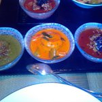 Konkan Chicken Curry, Calcutta Prawn Curry, Chukandar Ghost