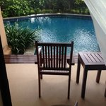 View from my room: my small private pool.
