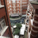 View of inner courtyard from our room