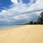 Beautiful white sand beach.