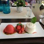 Vanille Panna Cotta mit Erdbeeren