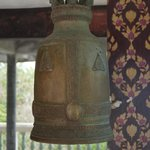 Large prayer bell around Big Buddha statue