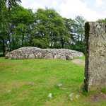 Standing stone and mound.