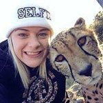 Photo with the cheetah - she is lovely