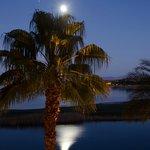 Moon and Venus over Lake Las Vegas - taken from my room