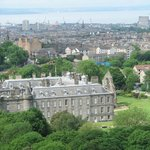 City and Holyrood Palace from the climb to Arthur's Seat