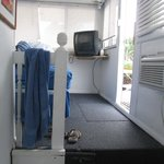 Inside the medium-sized boat: bedroom #2