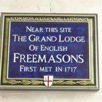 Grand Lodge of the Freemasons plague