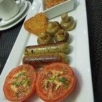 Delicious cooked breakfast with vegetarian :-)) sausage