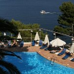The pool from Rm 19, Paradise Hotel, Alonissos