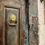 closeup of door knocker, exterior